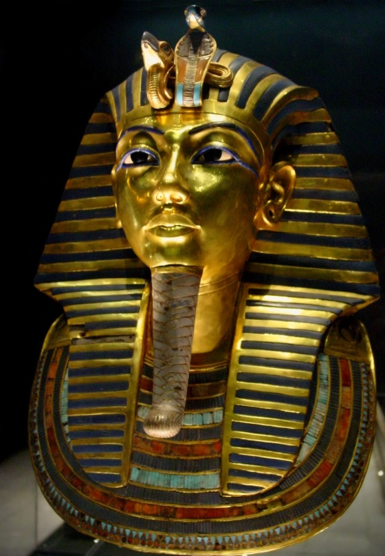 Mask of Tutankhamun's mummy at The Egyptian Museum.