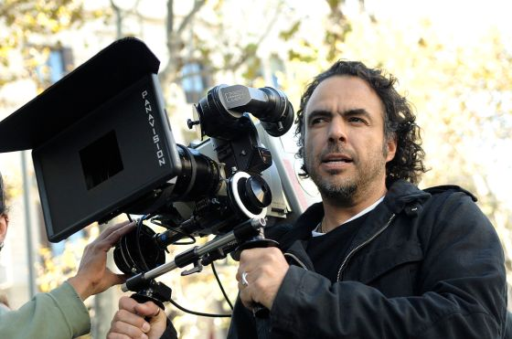 Alejandro González Iñárritu  in Spain during film production, 2008