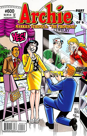Cover for comic Archie Marries Veronica, #600, 2009