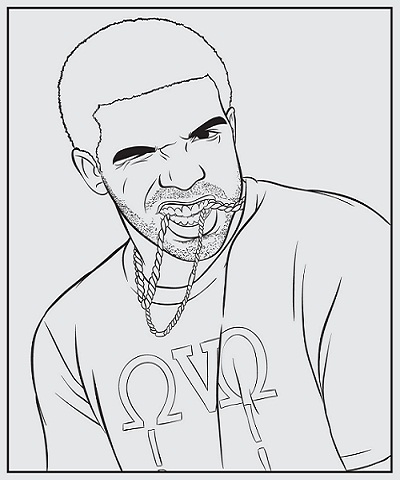 Drake rap coloring book coloring pages for Rapper coloring pages