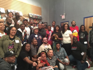 Podcasters at the Blackfinity Gauntlet Black Podcasters meet-up in Philadelphia, PA, 2016