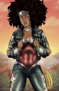 Black Wonder Woman image by Illumistrations