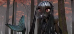 Feejee the mermaid in Season 2, Episode 3 of The Adventures of Puss in Boots