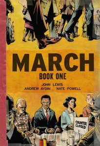Cover of March Book One, the graphic memoir series about congressman and civil rights activist John Lewis