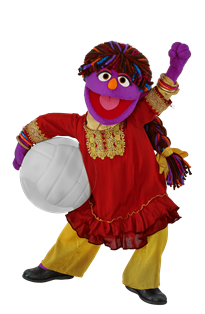 Six-year-old girl Zari, Sesame Workshop's first Afghan Muppet