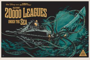 Poster for Disney's 1954 production of Jules Verne's 20,000 Leagues Under the Sea