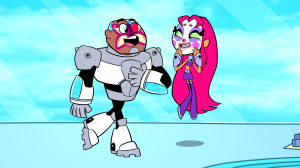 Cyborg_and_Starfire_with_face_paint