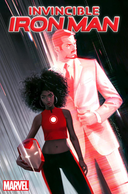 Riri Williams on the variant cover of Invincible Iron Man Vol. 3 #1. Art by Jeff Dekal.